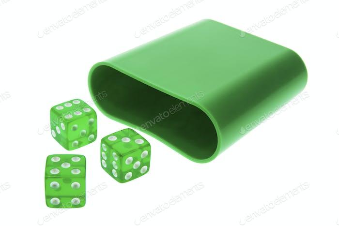 Green Translucent Dice