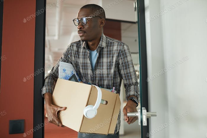 Man leaving the office