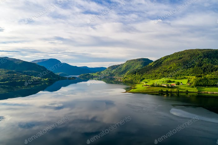 Thumbnail for Beautiful Nature Norway aerial photography.