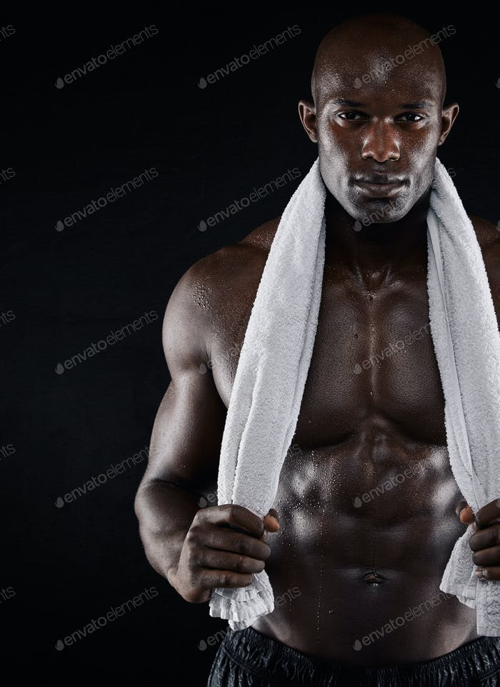 Fitness model after workout