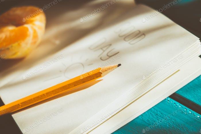 Opened diary