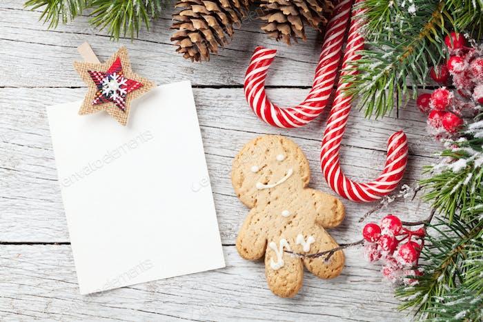 Christmas blank photo frame