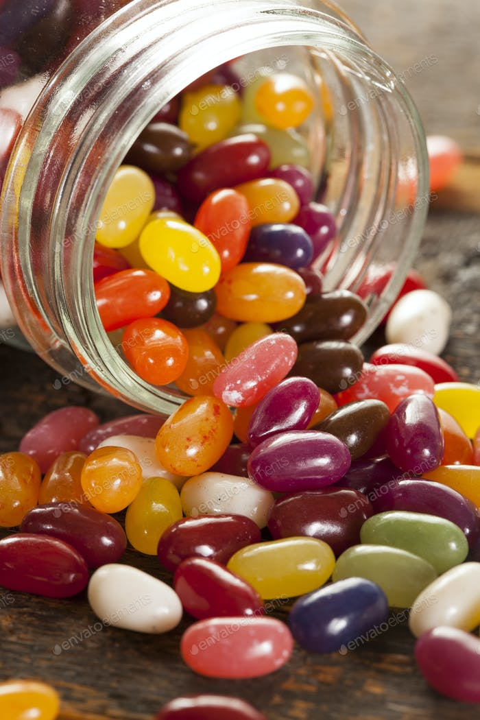 Colorful Mixed Fruity Jelly Beans