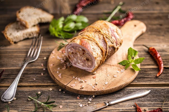 Stuffed meat roll