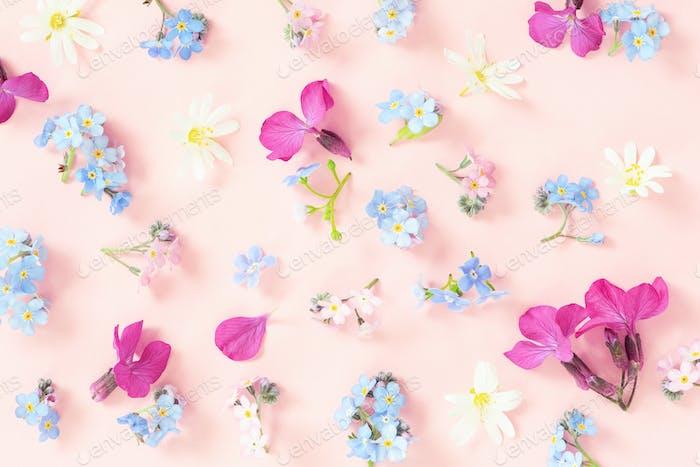 Tender Pattern of Fresh Flowers
