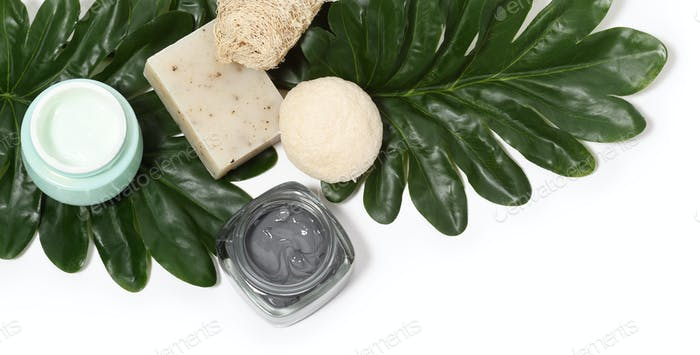 Arrangement of skin care products