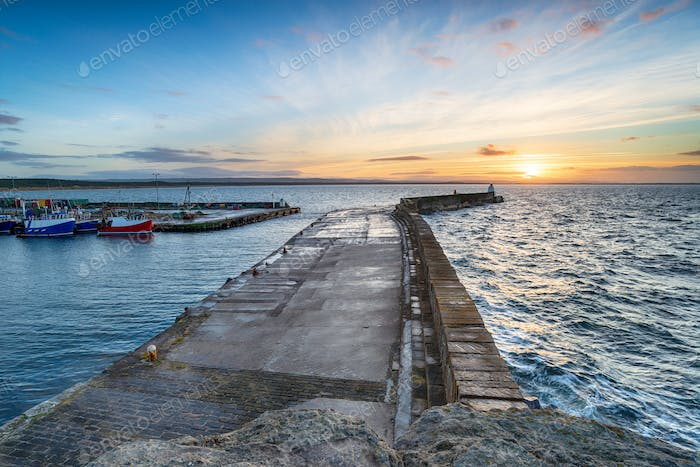 Sunset at Burghead