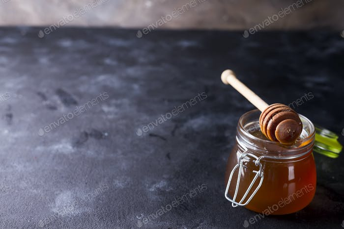 Honey in a pot or jar