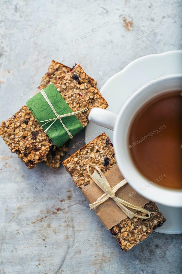 Tee- und Müsliriegel