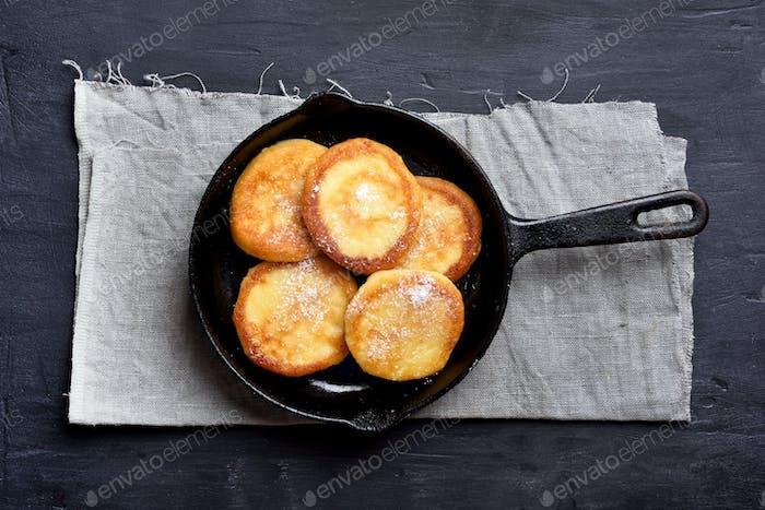 Käsepfannkuchen, Käsekuchen