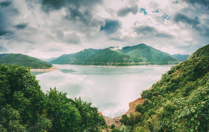 Thumbnail for Zhinvali Reservoir In Georgia, On River Aragvi. It Has One Of Th