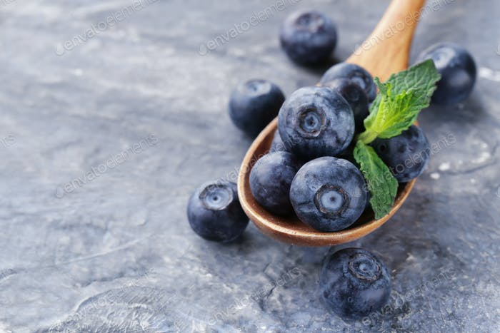 Ripe And Juicy Blueberries