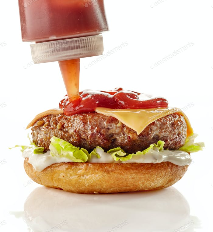 Preparation of burger