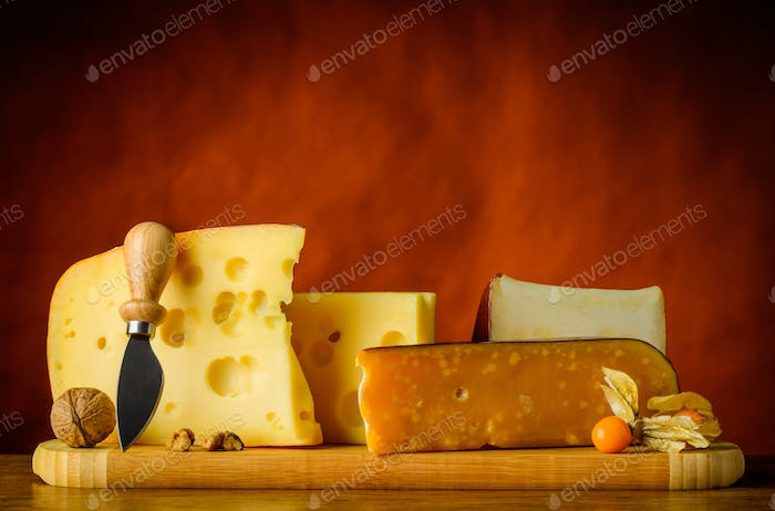 Yellow Swiss Emmental Cheese