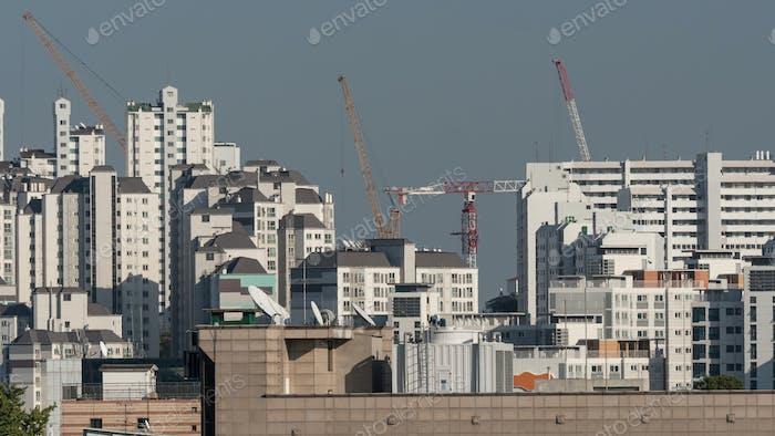 High-rise apartment blocks in Seoul, South Korea