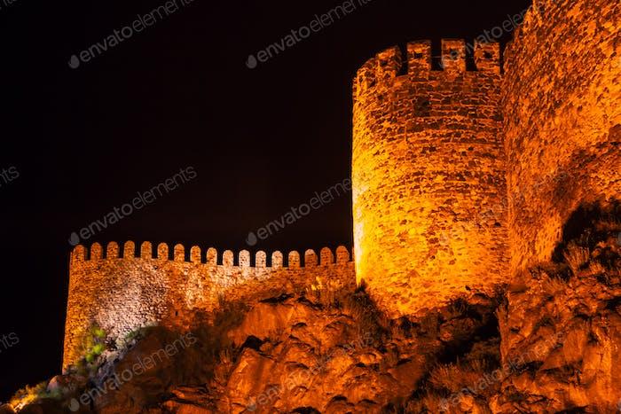 Rabati Castle at night in Akhaltsikhe