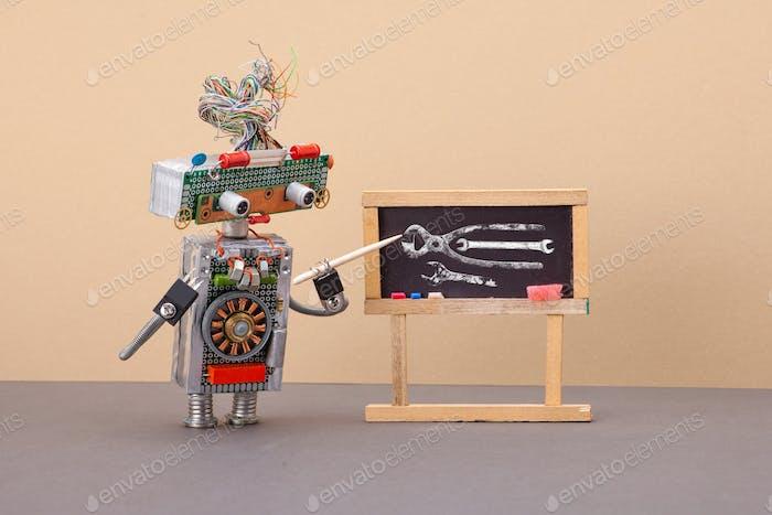 Konzept für maschinelles Lernen und Robotik-Bildung für künstliche Intelligenz.