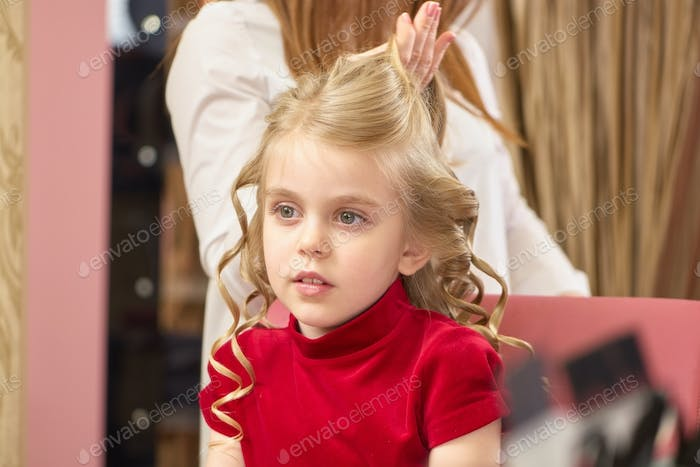 Little girl with blonde hair