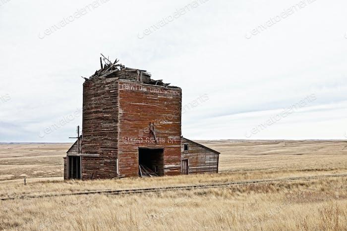 ruined railroad depot