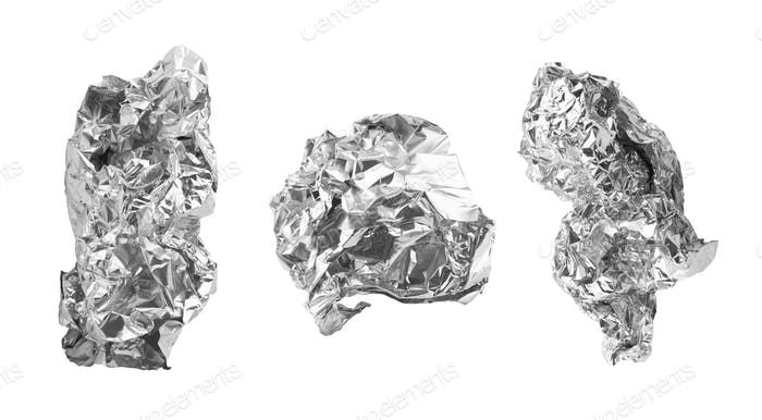 close up of an aluminum foil