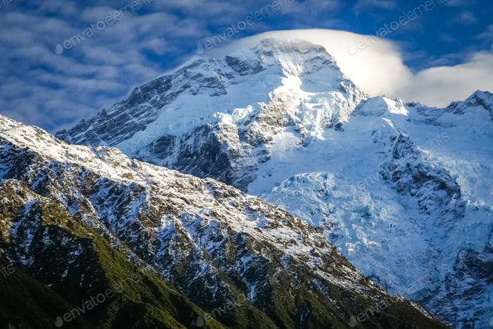 Mountain Scenery of New Zealand South Island