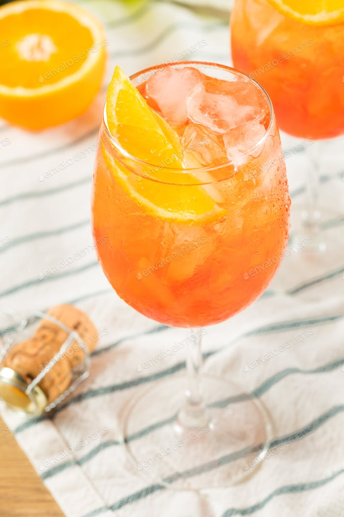 Alcoholic Aperol Spritz with Champagne