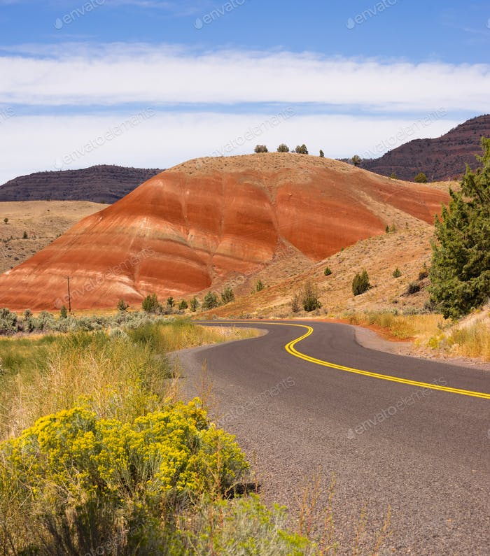 Painted Hills Fossil Beds Oregon State USA North America