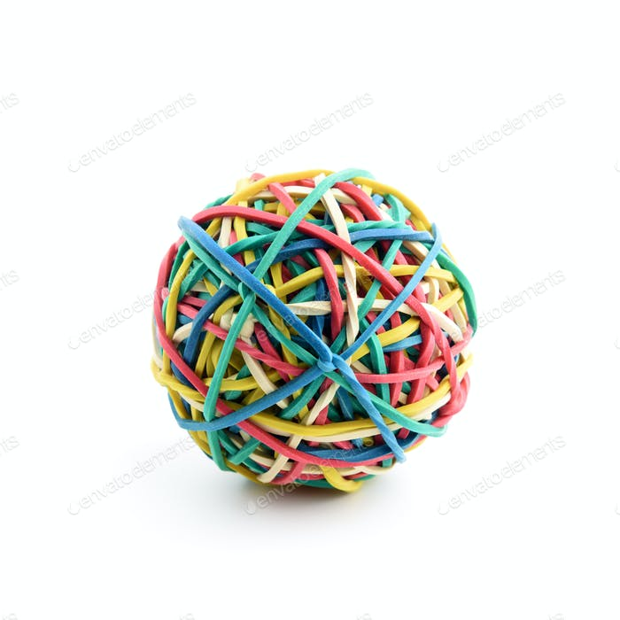 Colored rubber ball isolated