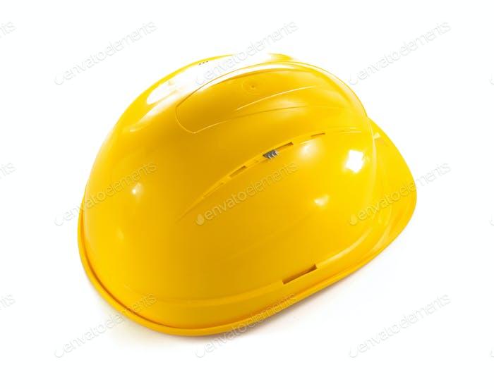 construction hard hat isolated on white