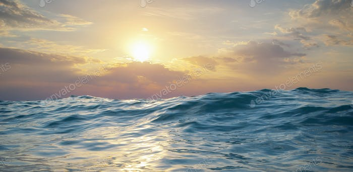 Wave on sunset.