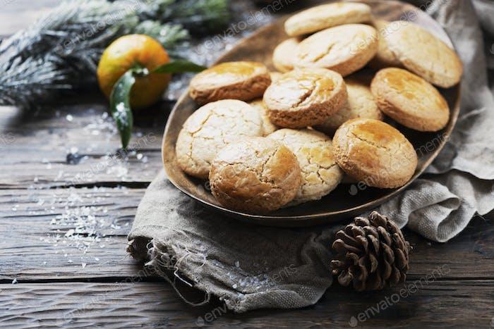 Hausgemachte Kekse für Weihnachtsessen