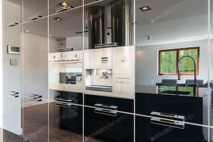 Built-in equipment in kitchen