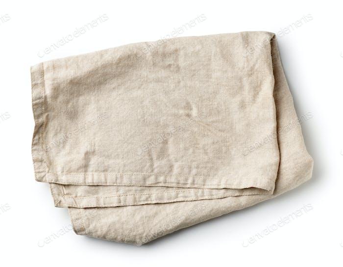 folded linen napkin