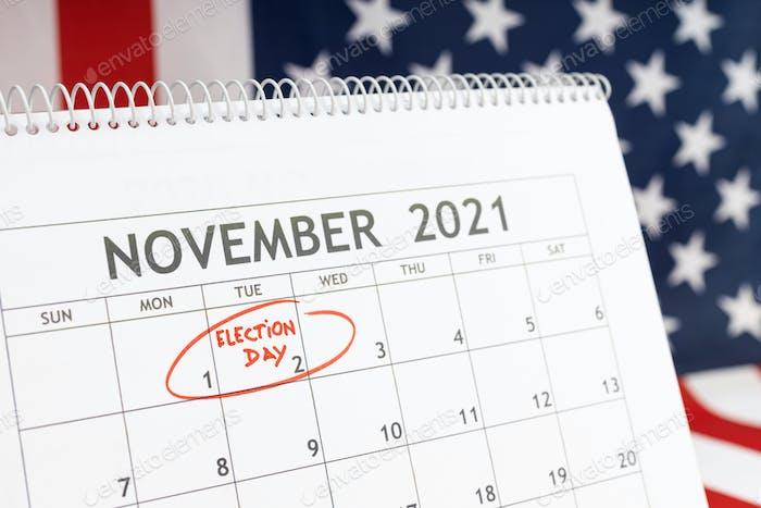 November 2021 USA election day concept