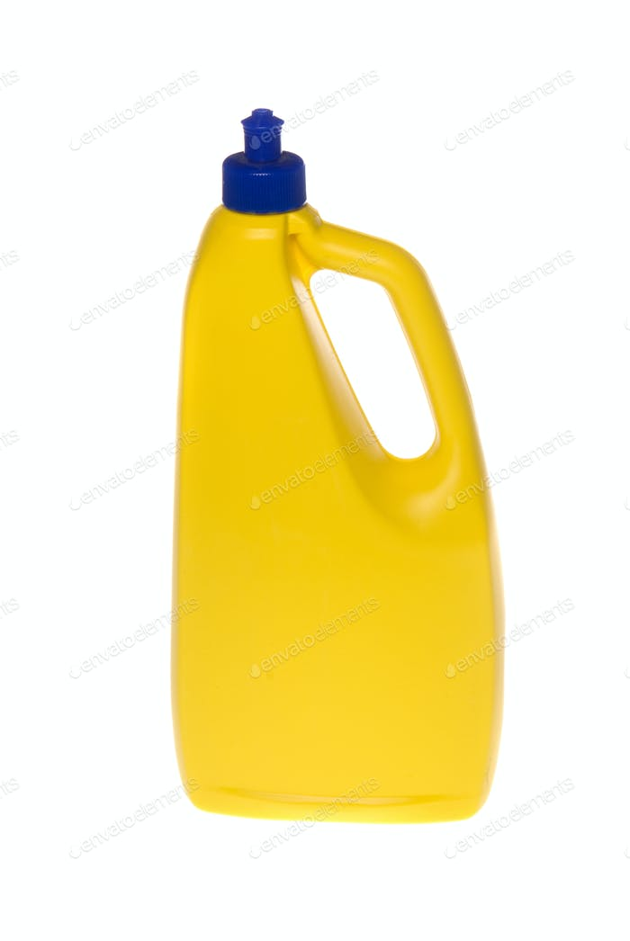 Plastic Yellow container for chemicals