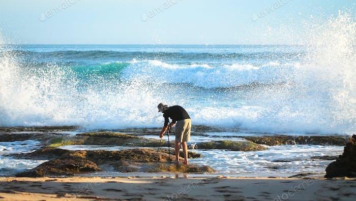 Photographer at the Ocean in Victoria, Australia