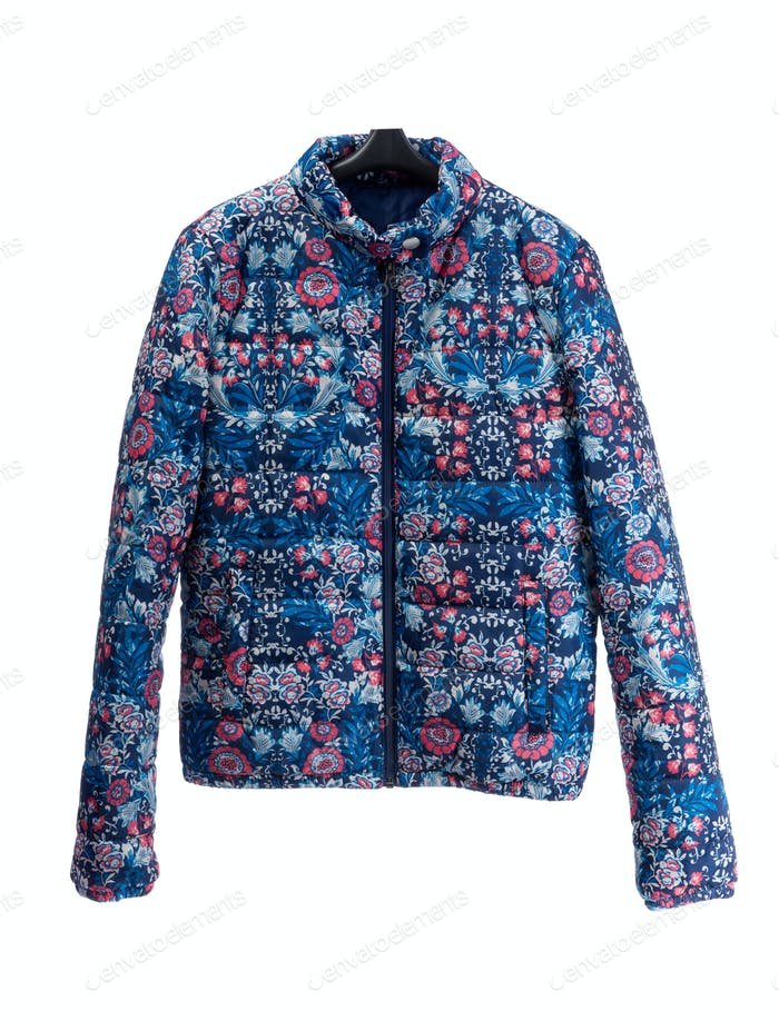 jacket with floral pattern