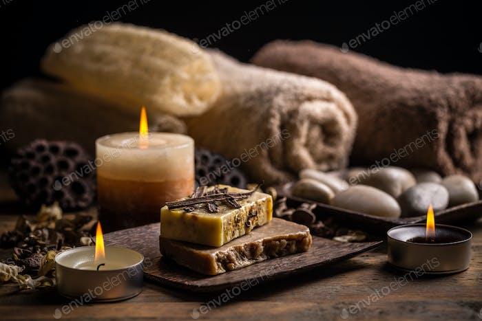 Handgemachte Seife mit Vanille