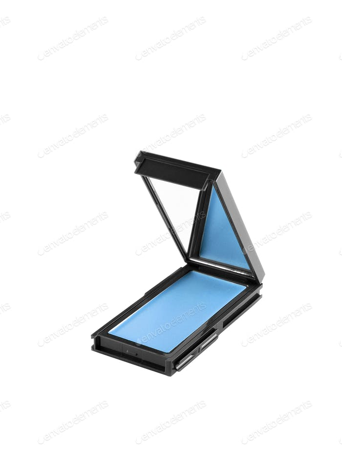 Blue make up shadows isolated