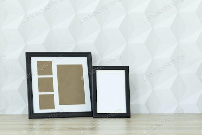 Mockup frames on a desk