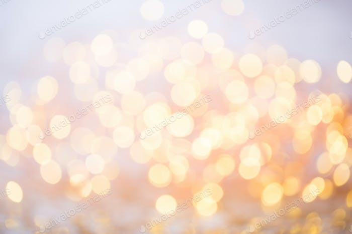 Abstract gold bokeh. Christmas and new year theme background.