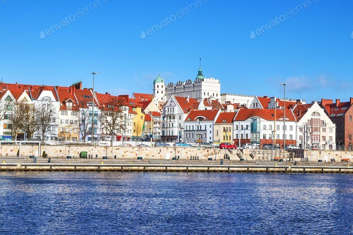 Picture of Szczecin city waterfront view, Poland.