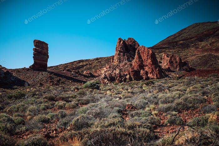 Roques de García, rocky formation on Teide mountain in Tenerife, Spain