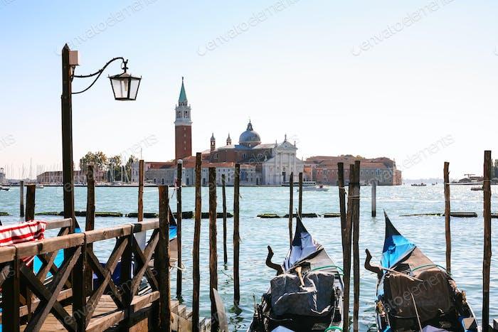 view of San Giorgio Maggiore from gondolas stop