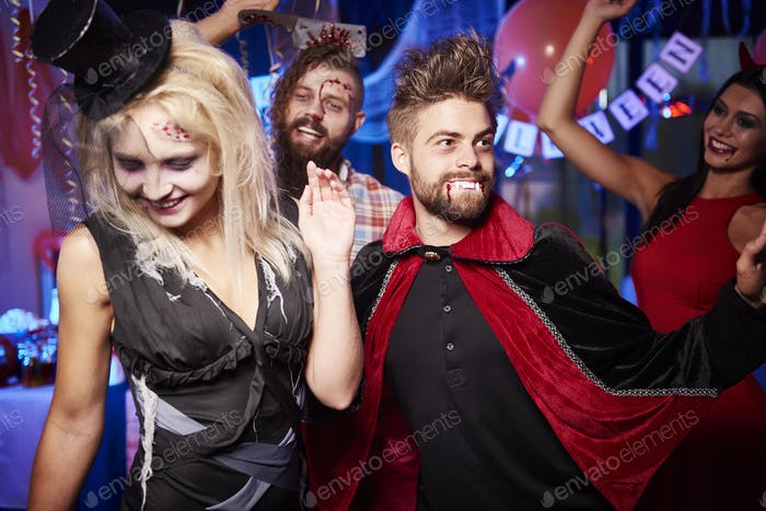 Dancing at the spooky party