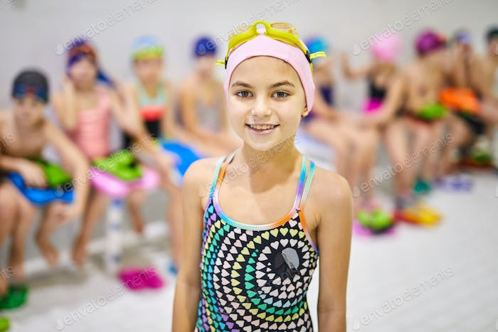 Little girl in swimsuit