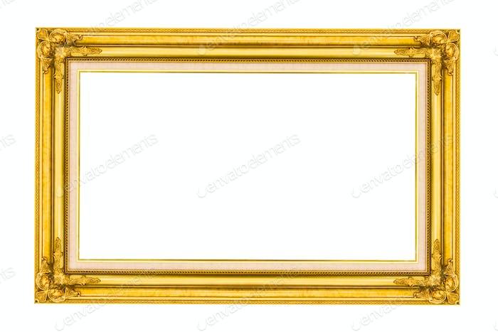 Bilderrahmen aus goldenem Holz