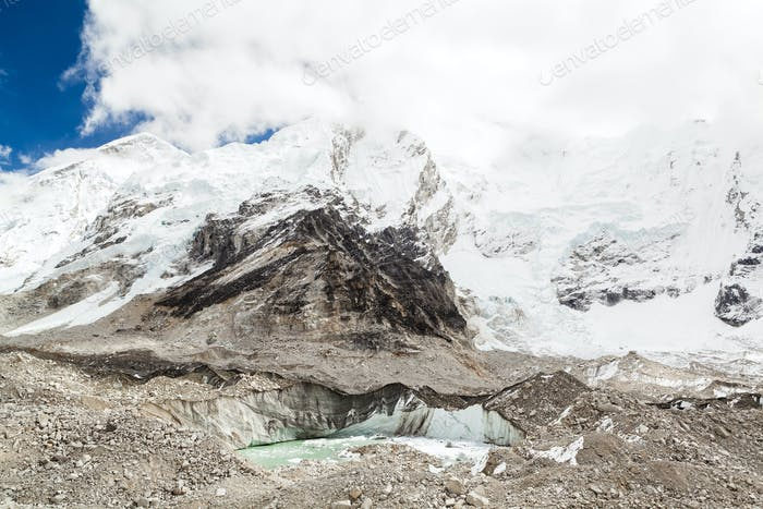 Himalaya mountains melting glaciers global warming climate chang