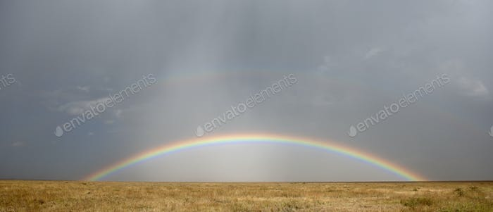 Rainbow at the Serengeti National Park, Tanzania, Africa