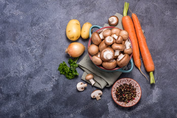 Vegetables for Cooking, Ingredients